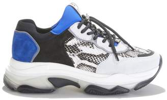 Bronx Baisley Leather Mix Trainers with Chunky Sole