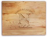 Happy Couple Personalized Maple Cutting Board