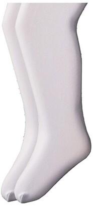 Jefferies Socks Microfiber Tights 2-Pack (Infant/Toddler/Little Kid/Big Kid) (White/White) Hose