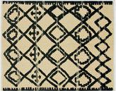 Nalbandian 6'10x5'6 Nenet Flat-Weave Rug, Black