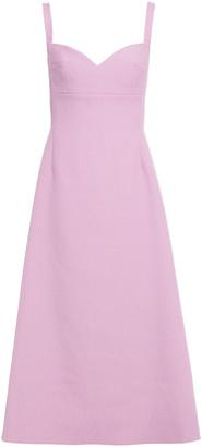 Emilia Wickstead Myrna Textured Cloque Midi Dress