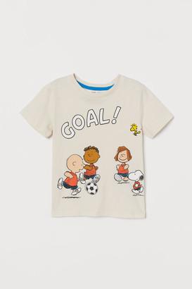 H&M Printed T-shirt - Beige