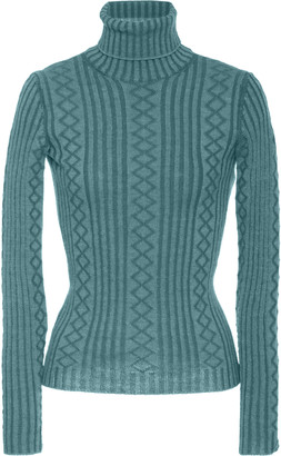 Marc Jacobs Wool-Blend Cable-Knit Turtleneck Sweater