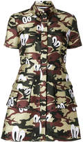 House of Holland camouflage print shirt dress