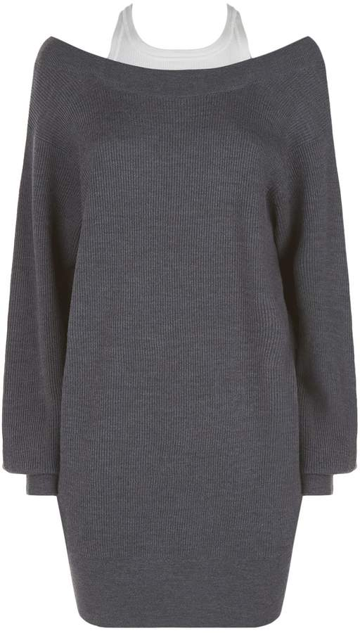Alexander Wang Bi-Layer Knit Sweater Dress