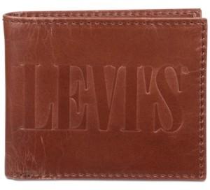 Levi's Men's Leonardo Rfid Extra-Capacity Leather Bifold Wallet