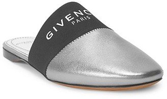 Givenchy Bedford Flat Metallic Leather Mules