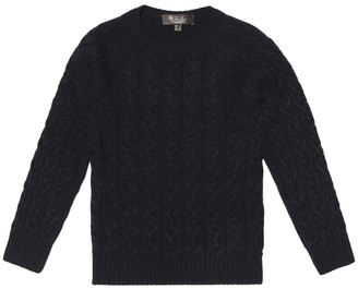 Loro Piana Kids Downy Cables cashmere sweater