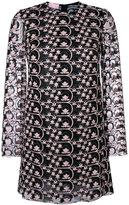Giamba sheer detail embroidered dress