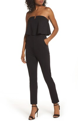 Fraiche by J Strapless Ruffle Jumpsuit