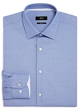 BOSS Jesse Micro Solid Slim Fit Dress Shirt