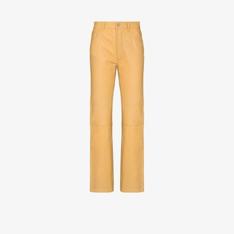 Sunflower Straight Leg Leather Trousers