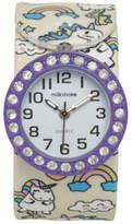 NEW Milkshake MSMLS18004 Unicorn Print Slap Band Boxed Watch Purple