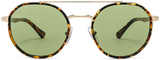 Persol PO2456S in Gold & Green | FWRD
