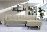 "Everly Chehalis 89.5"" Sectional Quinn Upholstery Color: Cream, Orientation: Right Hand Facing"