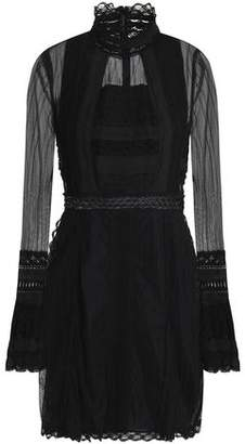 Jonathan Simkhai Lace-trimmed Tulle Turtleneck Dress
