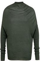 Rick Owens Batwing sleeve virgin wool sweater