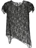 Givenchy floral lace asymmetric top