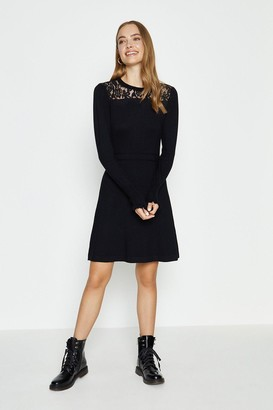 Coast Lace Ruffle High Neck Dress