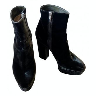 Gianvito Rossi Green Velvet Ankle boots