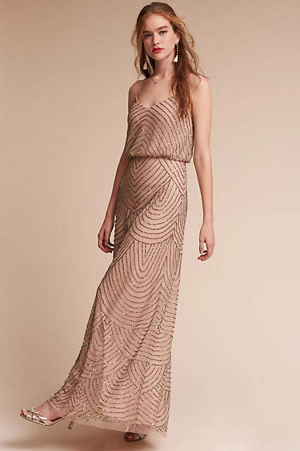 Anthropologie Eclipse Wedding Guest Dress
