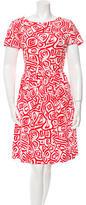 Oscar de la Renta Persimmon Print Sheath Dress w/ Tags