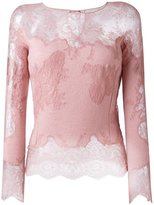 Ermanno Scervino lace longsleeved blouse