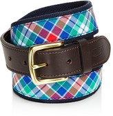 Vineyard Vines Northern Shore Plaid Canvas Club Belt