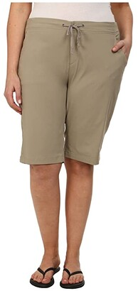 Columbia Plus Size Anytime Outdoor Long Short (Tusk) Women's Shorts