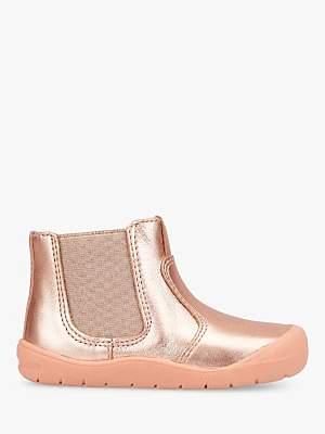 Start Rite Start-rite Children's Leather First Chelsea Boots, Pink