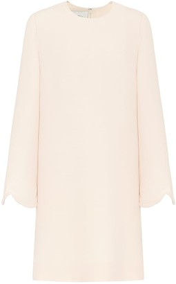 Valentino wool-blend crepe dress