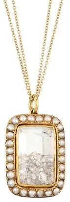 Renee Lewis 18K Yellow Gold, Pearl & Diamond Pendant Necklace