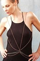 Louise Manna Lamina Vest Necklace in Copper and Black