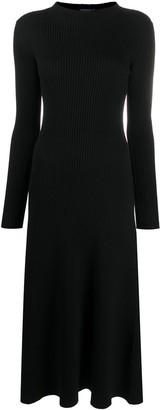 Prada Ribbed Knit High Neck Dress