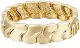 "Robert Lee Morris Brace Me"" Gold Sculptural Narrow Stretch Bracelet"