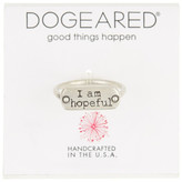 "Dogeared Good Things Happen Sterling Silver ""I Am Hopeful"" Ring - Size 6"