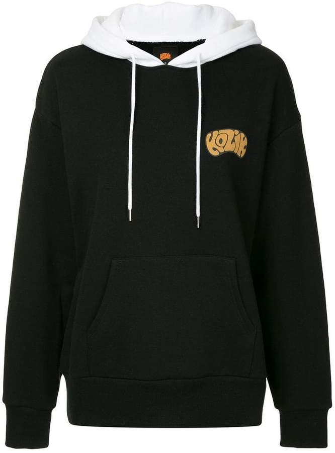 G.V.G.V. rear printed logo hoodie