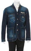 DSQUARED2 Distressed Denim Jacket w/ Tags