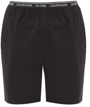 Calvin Klein Underwear Cotton-blend Jersey Pyjama Shorts - Black