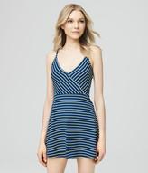 Stripe Textured Wrap Dress