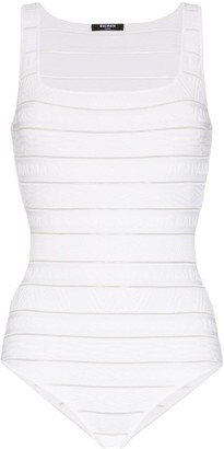 Balmain Stripe Knit Bodysuit