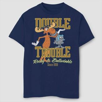 Fifth Sun Boys' Rocky & Bullwinkle Double Trouble T-Shirt - Navy