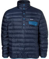 Patagonia Snap-t Quilted Dwr-coated Ripstop Shell Down Pullover - Navy