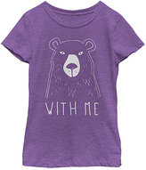 Fifth Sun Purple Berry 'Bear With Me' Tee - Girls