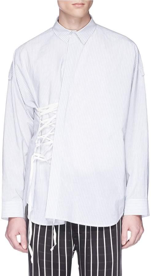 Damir Doma 'Skylar' lace-up stripe shirt