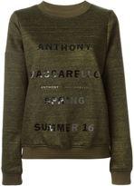 Anthony Vaccarello logo print sweatshirt