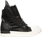Cinzia Araia Rubberized Canvas Zip High Top Sneakers