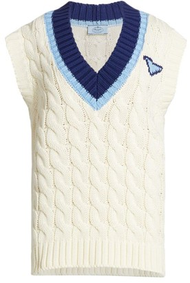 Prada Cotton Knit Sweater Vest