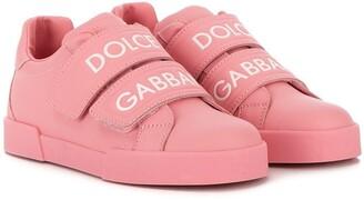 Dolce & Gabbana Logo Touch-Strap Sneakers