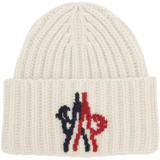 MONCLER GENIUS Logo Wool Knit Beanie Hat
